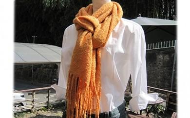 [№5811-0027]草木染め手織りシルクストール(エンジュと茜染め)