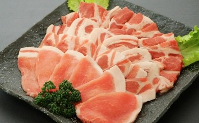 A-22 焼肉セット!鹿児島県産黒豚ロースカルビ600g&黒豚肩ロースカルビ600g、合わせて1.2kg!