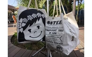 (348) 「88tees」境町コラボキャンパスバック(大)(境町&ハワイ友好物産交流品)
