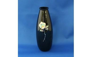 E10 金胎漆器花器(萌型)「椿白」螺鈿入:高岡銅器