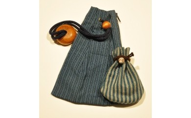 【C03】伝統工芸品 唐棧織(とうざんおり) 巾着袋(大・小セット)