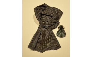 【E01】伝統工芸品 唐棧織(とうざんおり) マフラーセット