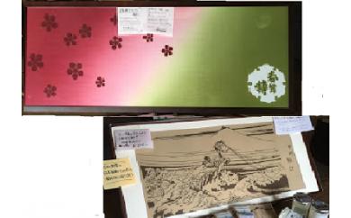 B1701鰍沢・春鶯囀手ぬぐい2本セット
