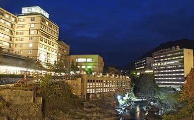 北海道・定山渓温泉で使える宿泊クーポン13,500点(Dプラン・足湯、ワインまたは軽食付き)