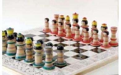 D-2 駒はこけしでルールはチェスのコラボ商品 「こけス」