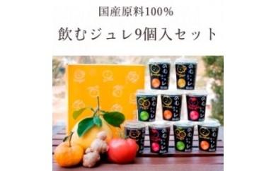 BB146 岡林農園の飲むジュレ(ゆず)9本入りギフトセット【550p】