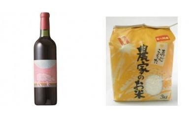 A-49 安心院*小さなワイン工房ワイン(赤)&米