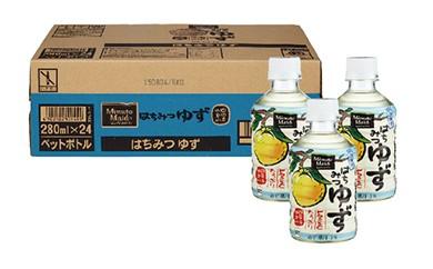 SJ02 ミニッツメイド はちみつゆず 24本入りケース【25pt】