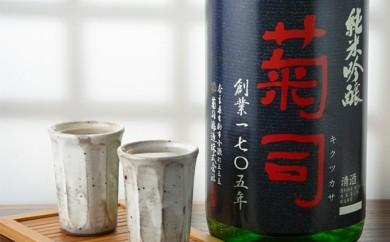 [№5825-0077]菊司 純米吟醸 1.8L