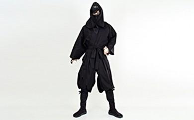[№5831-0052]大人用袴式本格派忍者衣装(黒)
