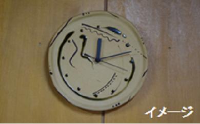 織部焼 掛け時計