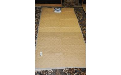 50S02 近江ちぢみ 本麻敷きパット(手揉み・コンニャク加工)(シングル 100×205)