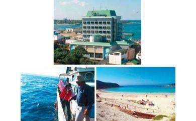 特典番号55.観光基本プランB(ホテル泊)+オプションD(観光タクシー)+オプションF(船釣り体験) 8200pt