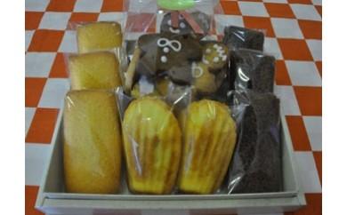 【四国一小さな町の洋菓子屋】プレゼントセットB(焼き菓子8個+クッキー)