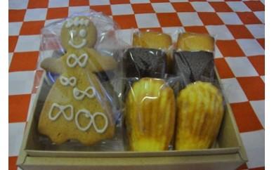 【四国一小さな町の洋菓子屋】プレゼントセットA(焼き菓子6個+クッキー)