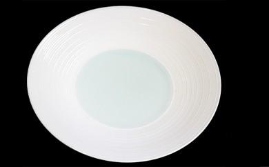 AA21 【波佐見焼】【洸淋窯】見込青白磁千段 8寸皿【くらわんか】