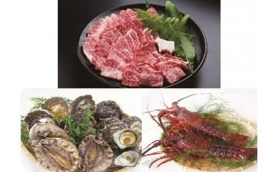 W0603三田牛焼肉と旬の海産物セット