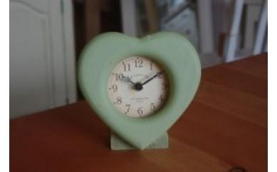 ★受付終了★ AD56 キットで作るハート置き時計 『ロイヤルグリーン色』【15,000pt】
