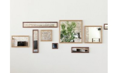 BG61 ORLO Wall Mirror 8484 walnut【243,750pt】