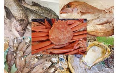 【G08】ベニズワイガニ、鮮魚詰め合わせセット