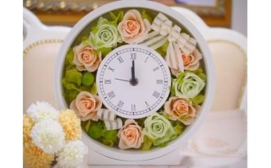 30C022 Flower Clock(フラワークロック)<プリザーブドフラワー>