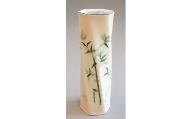 [№5717-0038]尾張七宝 ねじれ形花瓶