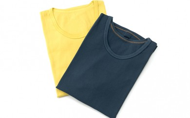 """[№5862-0093]""""和の色""""快適・爽快・純日本製Tシャツ2枚セット"""