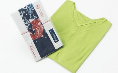 """[№5862-0091]""""和の色""""純日本製『Vネック衿』シャツ&和柄手拭たおる"""