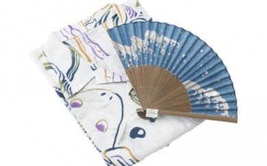 [№5862-0133]オリジナル手拭いアロハ&和小物(扇子)