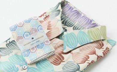 [№5862-0134]オリジナル手拭い衿付長袖シャツ&和小物(和柄タオルハンカチ)