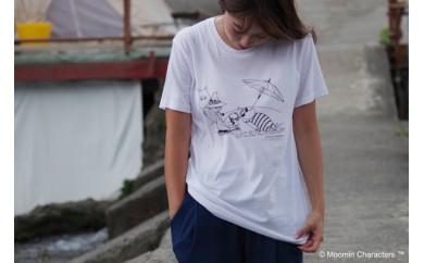 【ムーミン基金限定】オーガニックコットンTシャツ(ビーチ)
