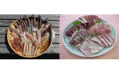 N803 漁師直送干物、刺身毎月発送 寄付額100,000円