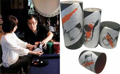[№5884-0054]世界に一つだけの新打楽器「パコーン」制作と大太鼓試奏体験