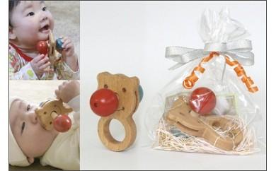 010-005赤ちゃんに優しい木のおもちゃ(赤いはな・青いはな)