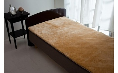 500-001信州上田製高密度ムートン(羊毛皮)シーツ毛長25mm シングルサイズ
