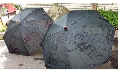 100-014六文銭浴衣地の日傘