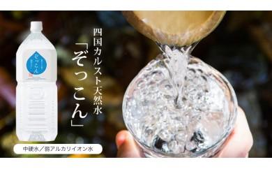 【D15】四国カルスト天然水ぞっこん(500mℓ×24本、2ℓ×6本)