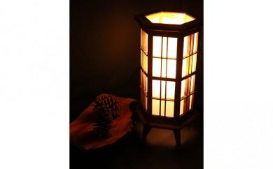 [№5750-0064]★六角置行灯★「職人の技が光るナイトスタンド」