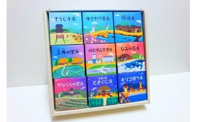 【輪島の厳選農家のお米を食べ比べ!】能登輪島米物語(精米2合×9個、29年産)