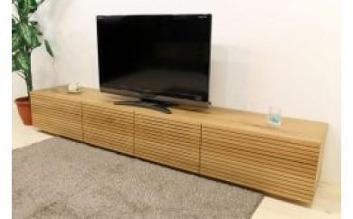 BN110 風雅/FUUGA TYPE2  テレビボード W2400(ホワイトオーク‐スリット)【830,000pt】