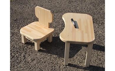 C-006 手作り木製 お子様用、机・いすセット