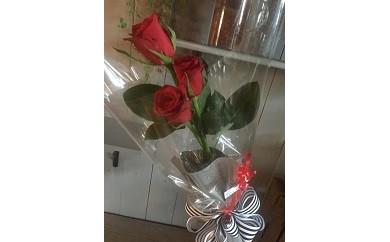 E-012 お花で愛を告白しませんか?バラの花束(バラ3本)