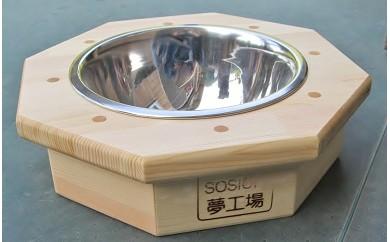 D-014 手作り木製 ペット用食器・ペット用水飲み