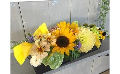 D-015 お祝いや記念日に最適!!季節のお花のアレンジメント(生花)