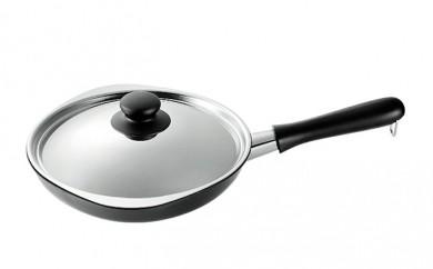 [№5809-0464]柳 宗理 ふた付鉄フライパン 22cm IH対応
