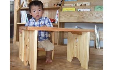 ヒノキテーブル