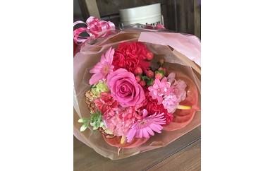 D-016 お祝いや記念日に最適!!季節のお花の花束(生花)