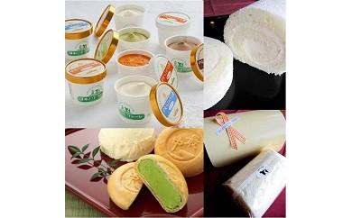 【F8】ほわいとファームのアイスクリーム・ほわいと&チーズロールケーキセット