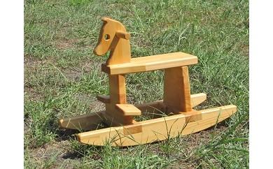 C-007 手作り木製 木馬