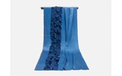 X001 藍染シルクストール(La Como)ブルー